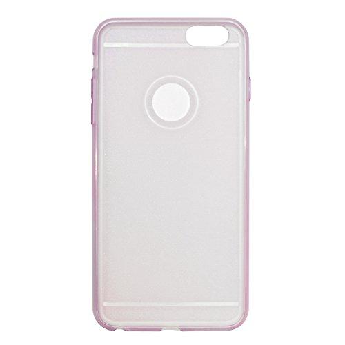 "iProtect Apple iPhone 6 Plus (5,5"") biegsame TPU Soft Case Hülle Glitzer Pailletten Design in Rosegold iPhone 6+ rosa"