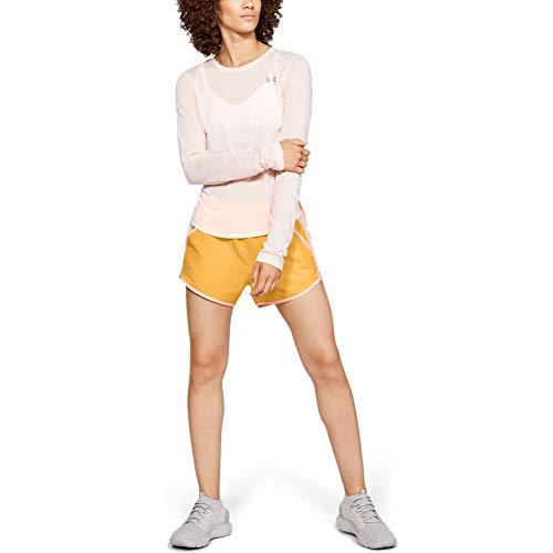 Under Armour Damen Shorts UA Fly-By, ultraleichte und atmungsaktive Sporthose, schnelltrocknende kurze Hose für Frauen mit loser Passform (Fitness-kleidung Für Frauen)