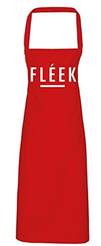 College Kostüme Diy (hippowarehouse FLEEK Schürze Küche Kochen Malerei DIY Einheitsgröße Erwachsene, rot,)