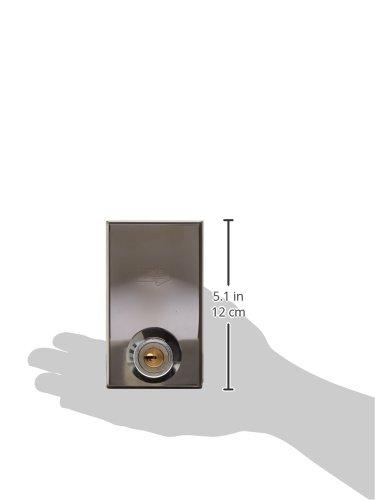 Wolfpack cbm 2002-Schloss für Tür aus Glas, Schlüssel Wandhalter