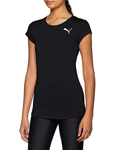 PUMA Damen Active Tee T-Shirt, Black, S