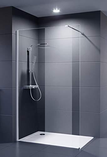 Duschmeister Glaswand Dusche 100x200 cm Walk In Palladium Neo 8 mm Duschwand Duschabtrennung Duschkabine auch andere Größen verfügbar