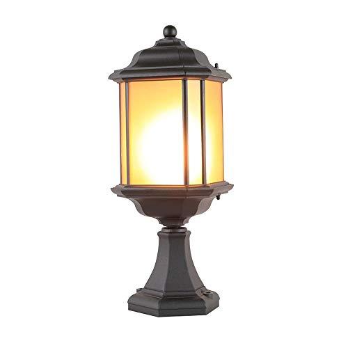 Outdoor-Post Laterne im Garten Patio Deck Ein-Licht-Mast Mount Licht mit Wasser Glasscheiben Mattschwarz-Finish außerhalb Hinterhof Säule Lichter dekoriert -