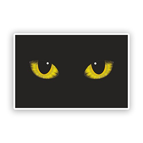 2 x Katzen Augen Vinyl Aufkleber Scary Halloween Dekoration # 7408 - 10cm/100mm Wide (Outdoor-halloween-dekoration)