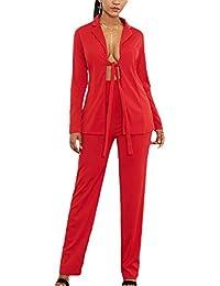 b50b92ab18 Amazon.it: donna - Rosso / Tailleur pantalone / Tailleur e giacche ...