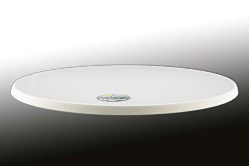 Sevelit Tischplatte weiß, rund, 850mm Durchmesser, wetterfest, schlagfeste Tischkante, Tischplatten ideal als Ersatzteil und zum Nachrüsten -