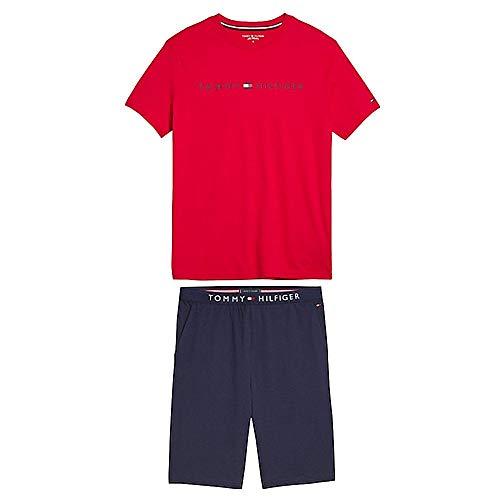 Tommy Hilfiger Herrn Schlafanzug Kurzarm rot (74) XL