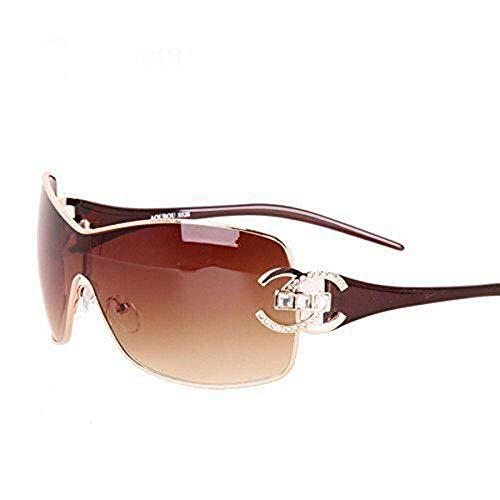 Frau HAOYUXIANG Persönlichkeit Metall Sonnenbrille Retro-Trend,GrayFilmColor