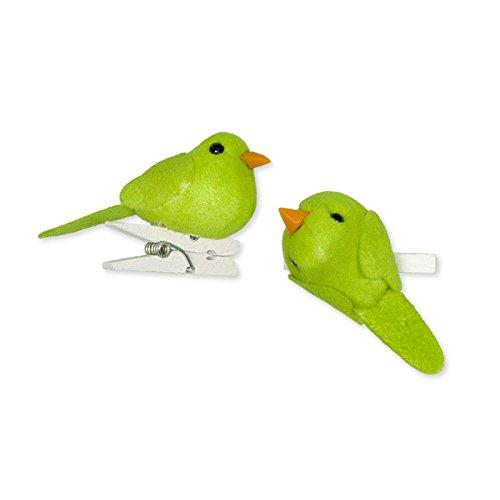Deko-Vögel mit Clip 6 Stück