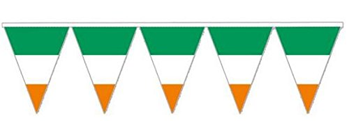 Giant Irish PENNANTS Wimpelkette ST PATRICK 'S Irland Celebration Dekoration Home Outdoor Kunststoff für große Flagge Party