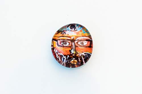 Graffiti Mann mit Brille Comic Street Art Glas Magnet Kühlschrankmagnet gift for Kids