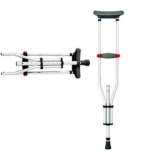 Crutch Achselkrücken Höhenverstellbar, rutschfest, Zusammenklappbar, Einziehbar,Typ A einzelner Zweig, Typ B doppelter Zweig,B