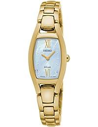 Seiko Damen-Armbanduhr Solar Analog Quarz Edelstahl beschichtet SUP314P1