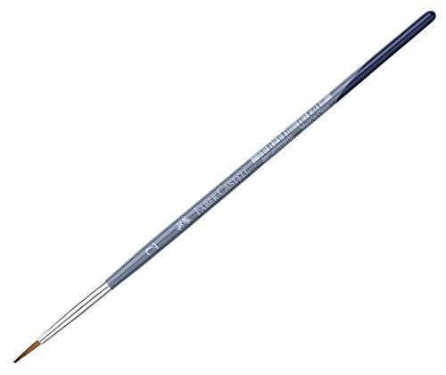Faber-Castell 281802 Creative Studio Pinsel, rund, Größe 2, blau (Liner Pinsel)