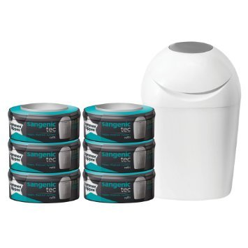 TOMMEE TIPPEE - Nappy Disposal System + 6 Nappy Disposable Tubes !!!