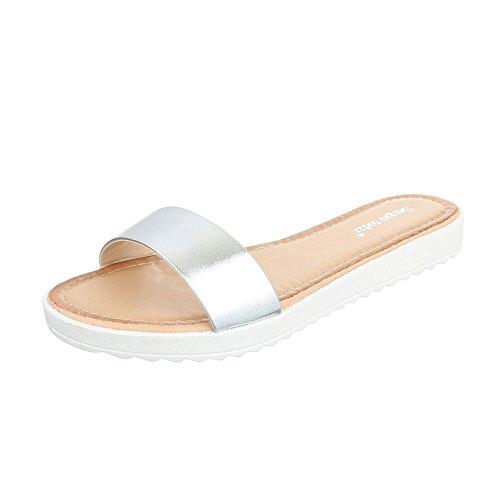 Ital - 50954, sandales Silber T165