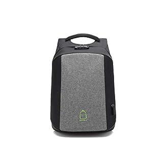 Charles 15.6 Zoll Laptop Rucksack Tasche Reisetappe mit externer USB-Ladehafen - Grau