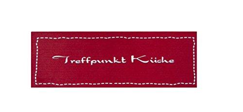 Küchenläufer / Küchenmatte / Dekoläufer für Küche und Bar / Teppich Läüfer / Küchenläufer / Küchendeko Modell Treffpunkt Küche rot