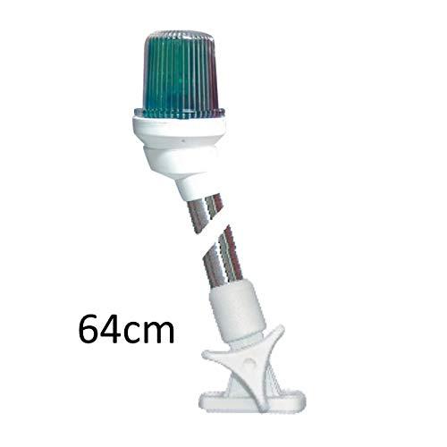 Lalizas Stablaterne Dreifarbenlaterne Gehäuse weiß Licht grün/rot/weiß, Stablaterne:umklappbar 64cm