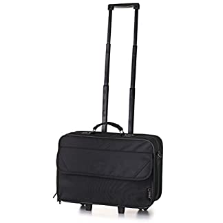 5 Cities Maletín para portátil – Laptop Maletín de negocios 44cm, 22 litros, negro, LAP010