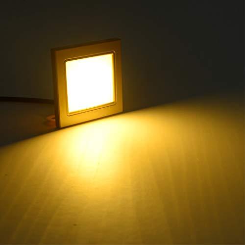 HONPHIER LED Nachtlicht Bewegungssensor Treppenlichter Wandmontierte Nachtlichter für Flur, Treppe, Veranda, 85-265 V, Warmweiß (Energy-home-theater-system)