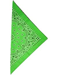 fabfive–HAV de a de Hank–Original fabricado en Estados Unidos Bandana–Lime, unisex, color verde - verde, tamaño One Size / Ohne Größe