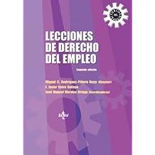 Lecciones de Derecho del Empleo (Derecho - Relaciones Laborales Y Ciencias Del Trabajo)