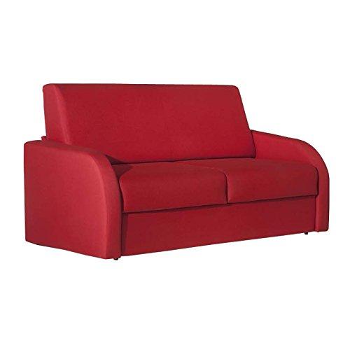 Esse italia divano letto 3 posti in tessuto rosso sfoderabile 186x95xh.92 cm