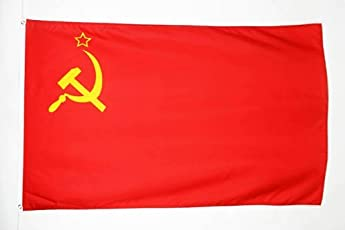 FLAGGE SOWJETUNION UDSSR 150x90cm - KOMMUNISMUS FAHNE 90 x 150 cm feiner polyester - flaggen AZ FLAG