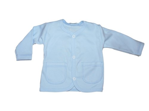 Seruna Babyjacke Baby Jacke Jäckchen, für Neugeborene und Babies, BY15 Gr. 68 blau
