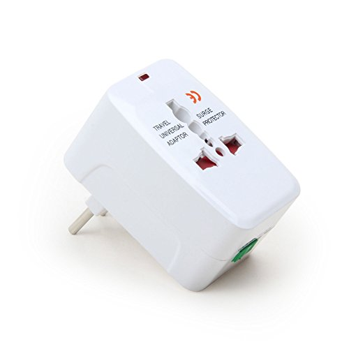 2 Year Warranty All In One Universal Power Adapter. Worldwide Travel Adaptor - White - Rts (Radhey Techno Services)