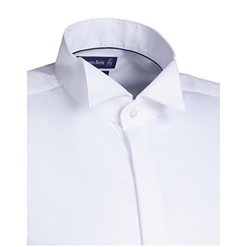 Jacques Britt Herren Slim Fit Smoking Hemd Gala T.98 Weiß
