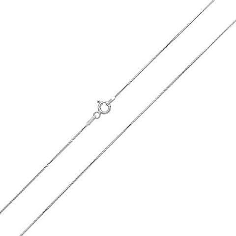 Bling Jewelry Bijoux en Argent Sterling 925 recto verso 8 Collier Chaîne serpent italien 1mm