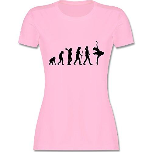 Evolution - Ballett Evolution - tailliertes Premium T-Shirt mit Rundhalsausschnitt für Damen Rosa