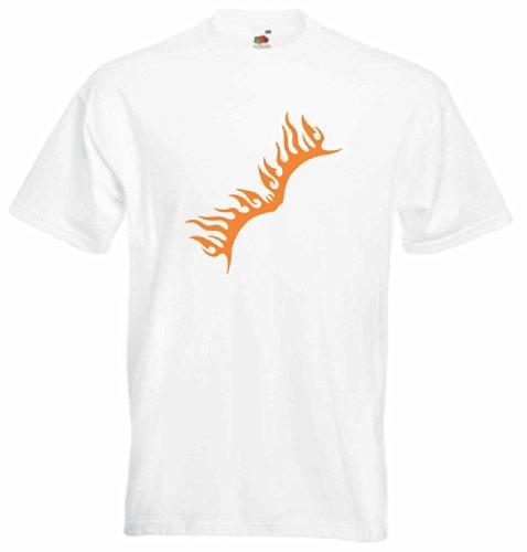 T-Shirt Herren Delle feuer brennt Weiß