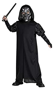 """Harry Potter Costume, Kids Death Eater Robe Outfit, Small, Age 3 - 4, HEIGHT 3' 8"""" - 4'"""