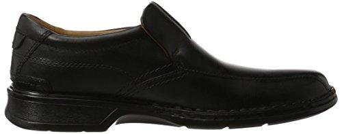 Clarks Herren Escalade Step Slipper Schwarz (Black Leather)