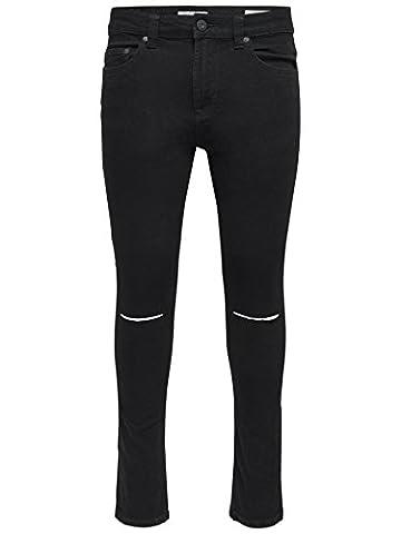 Only & Sons Herren Jeans - Skinny Jeanshosen - Busted