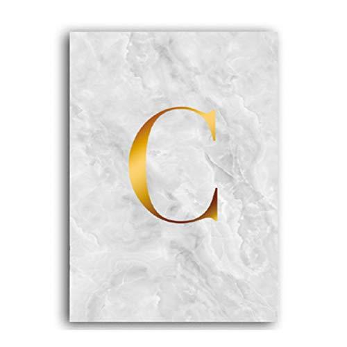 XWArtpic Abstrakte Geometrische Marmor Liebesbriefe Leinwand Malerei Poster Galerie Wandkunst Bilder Wohnzimmer Interior Home Decor 40 * 50 cm