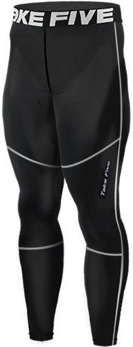 new-156-calzamaglia-a-compressione-strato-base-leggings-pantaloni-da-corsa-da-uomo-colore-nero