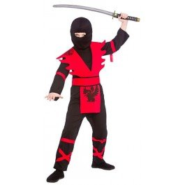 Black Red Fancy Dress Up Party Costume Halloween Outfit (Halloween Ninja Kostüm Ideen)