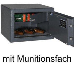 Pistolenschrank / Kurzwaffentresor / Pistolentresor 300x420x380mm , Sicherheitsstufe B, inkl. Munitionsfach , Schlüsselschloss