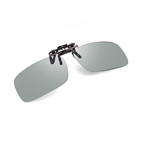 Glazata Polarisiert Sonnenbrille Clip Herren mit UV 400 Schutz und Metall Bügeln Brille für Golf, Fahren und Angel (Polwarz, Clip)
