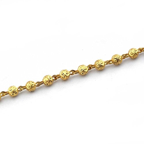 Anvi's plain gold beads chain