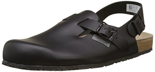 "Abeba 8045-44 Size 44"" Nature Occupational-Clog Shoe - Black"