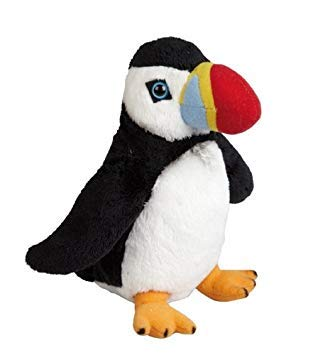 Plush Soft Toy Puffin by Ravensden from The Suma Collection. 19cm. FRS016PU