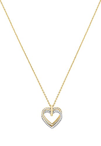 CHRIST Gold Damen-Kette 375er Gelbgold Zirkonia One Size, gold