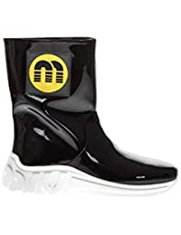 2b122e90cd08 Miu Miu Women s 5U297c3kpbf0002 Black PVC Ankle Boots
