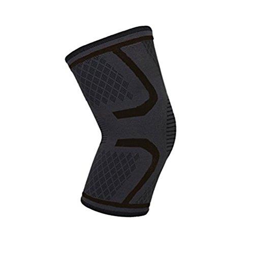 Healifty Sport Knie Unterstützung Ärmel Knieschützer Kniebandage für Outdoor Laufen Wandern Sport Aktivitäten Größe M (Schwarz)