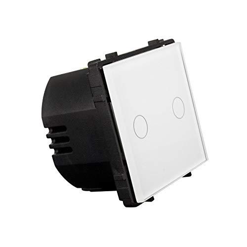 Interruptor Táctil Doble Conmutado Remoto Blanco